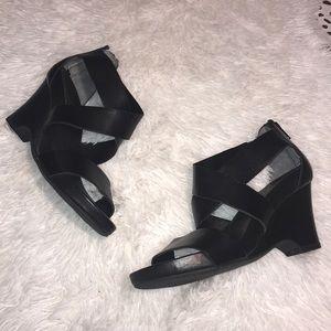 The Flexx Leather Wrap Wedge Sandal
